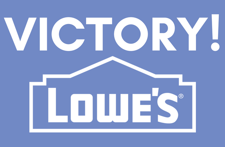 Lowe's Paint Strippers Campaign Win