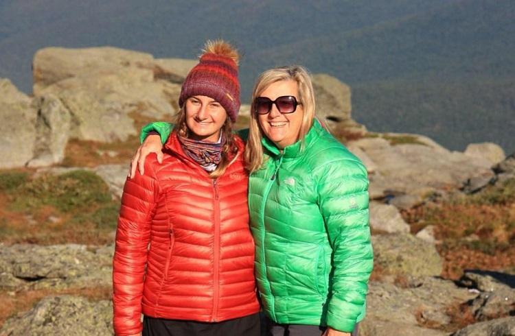 Deb Cole on Mt Washington New England Peaks for Prevention breast cancer benefit event