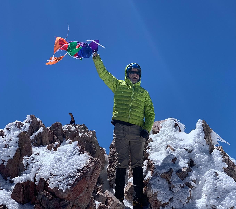 Mark Victory BCPP Climb Against the Odds Summit Mt Shasta