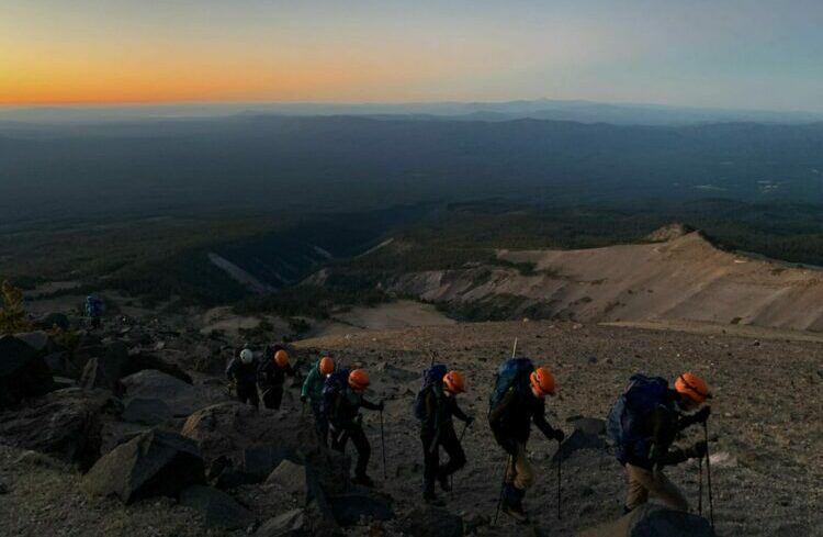 Morning ascent Climb Against the Odds BCPP 2021