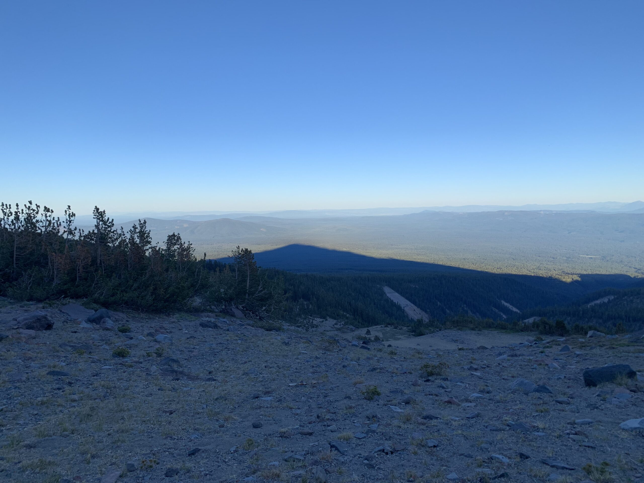 Sunset shadow Mt shasta Climb Against the Odds 2021